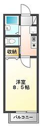 アザレ清住[2階]の間取り