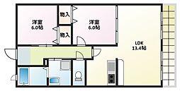 ウィステリア弐番館[1階]の間取り