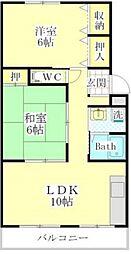 ガーデンヒルズ昭和[1階]の間取り