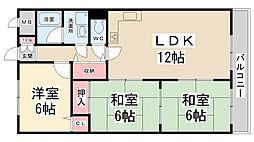 インペリアル花屋敷[607号室]の間取り