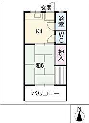 五色荘[2階]の間取り