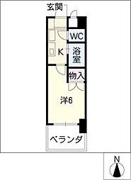 レジデンス中島[4階]の間取り
