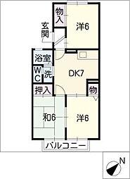 セジュール豊栄[2階]の間取り