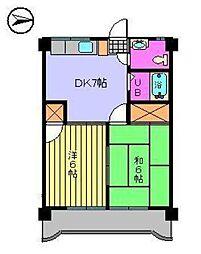 第75杉フラット[208 号室号室]の間取り