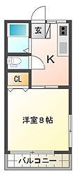 KT3ハイツ[1階]の間取り
