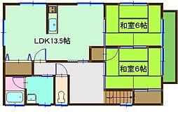 カーサ吉井C[C101号室]の間取り