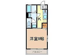 静岡県富士市平垣本町の賃貸アパートの間取り