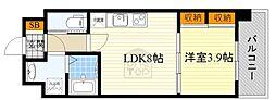 北大阪急行電鉄 千里中央駅 バス15分 北消防署前下車 徒歩6分の賃貸マンション 2階1LDKの間取り