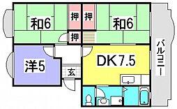 ハイネス井口[1階]の間取り