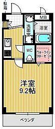 愛知県豊明市間米町鶴根の賃貸アパートの間取り
