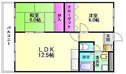 サザンコート片縄[3階]の間取り