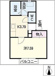 サルビア B棟[2階]の間取り