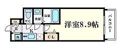Osaka Metro御堂筋線 本町駅 徒歩3分の賃貸マンション 4階1Kの間取り