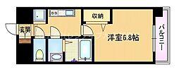 Osaka Metro谷町線 都島駅 徒歩4分の賃貸マンション 11階1Kの間取り