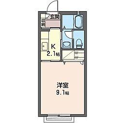 セピアコートL[2階]の間取り