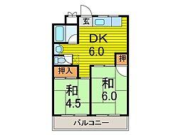 矢澤ハイツ[2階]の間取り