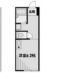 アルシオーネ東林間[2階]の間取り