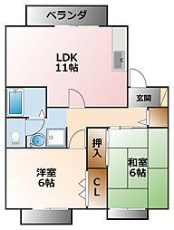 VING TAINE 津門I・II[2階]の間取り