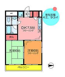 東京都足立区大谷田4丁目の賃貸マンションの間取り