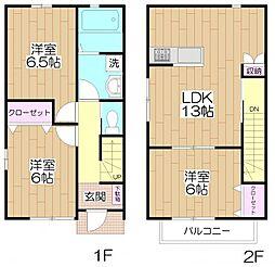 [タウンハウス] 東京都足立区関原3丁目 の賃貸【/】の間取り