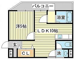 カーサ宮田[3階]の間取り