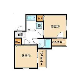 東京都板橋区坂下2丁目の賃貸マンションの間取り