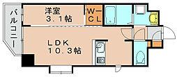 ネストピア博多駅前2[4階]の間取り