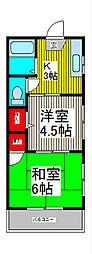 三晃ハイツⅢ[102号室]の間取り