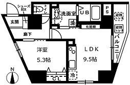 東京メトロ千代田線 根津駅 徒歩3分の賃貸マンション 7階1LDKの間取り