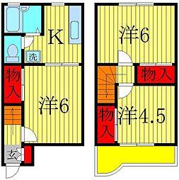 [テラスハウス] 千葉県松戸市稔台 の賃貸【/】の間取り