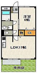 リード21[101号室]の間取り