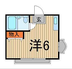 NT西川口コーポ[2階]の間取り