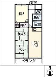 レジデンスAZUMA[2階]の間取り
