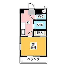 プリミエール八田[2階]の間取り
