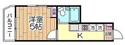 スターライト西新井[201号室]の間取り