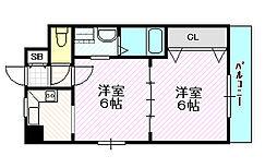 アーバンフレーム21[6階]の間取り