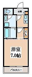 大阪府大阪市生野区舎利寺3丁目の賃貸アパートの間取り