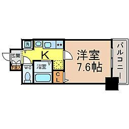 プレサンス名古屋STATIONアライブ[1404号室]の間取り