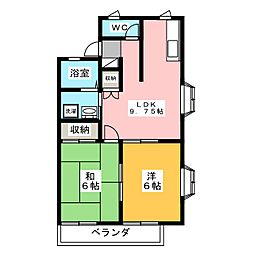 シャインフィールド6号棟[1階]の間取り