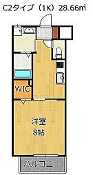 パークテラス浅生[8階]の間取り