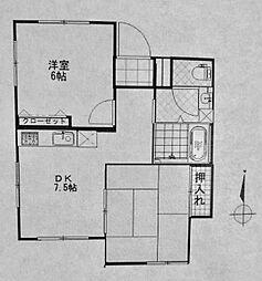 しずかマンション[102号室]の間取り