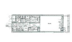 JR中央線 立川駅 徒歩7分の賃貸マンション 4階1Kの間取り