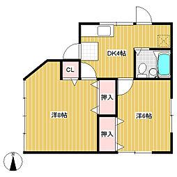 土屋アパート[2階]の間取り