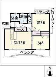 グローリーI[2階]の間取り