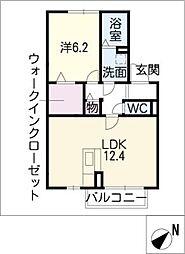 フラワーコート D棟[1階]の間取り
