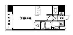 アスヴェル新北野モスト[7階]の間取り
