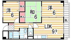 藤楓アビタシオン[508号室]の間取り