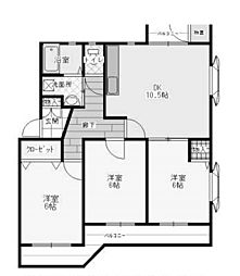 ソレイユ南成瀬3[2階]の間取り
