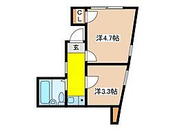 サンケンパレス府中宮西パート3[4階]の間取り
