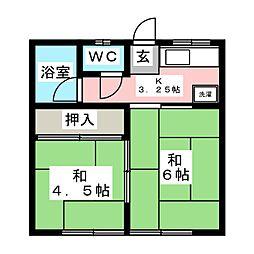 昭和コーポ[1階]の間取り